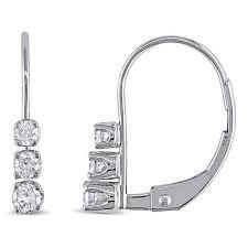 leverback earrings 14k white gold diamond accented leverback earrings 7641445 hsn