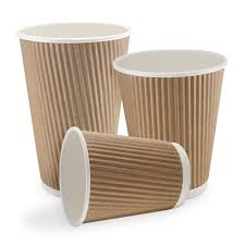 coffe cups kraft cups double wall ripple coffee cups and lids garraways