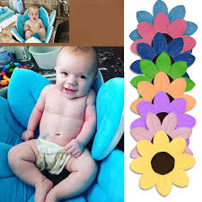 2017 newborn baby bathtub foldable blooming flower shape mat soft