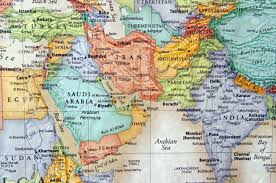 Maps Of Middle East by Map Of Iran And The Middle East Stock Photo Picture And Royalty