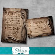 Wedding Invitation Cards Design Western Wedding Invitations Brown Wooden And Pictures Card