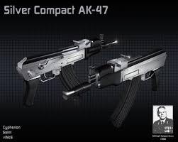 Flag With Ak 47 Silver Compact Ak 47 Counter Strike 1 6 Skin Mods