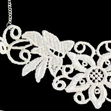 white lace necklace images White lace necklace simple lace applique jewelry twisted pixies png