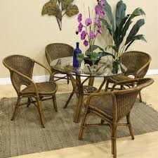 indoor wicker dining room sets hospitality rattan cancun palm