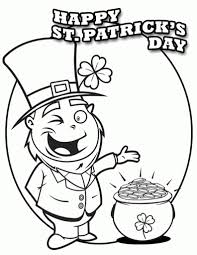 saint patrick day coloring pages to print with regard to motivate