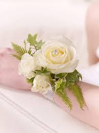rose u0026 fern wrist corsage
