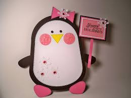 card creations u0026 more by c home decor happy holidays penguin