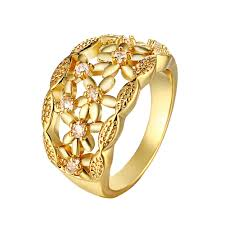 beautiful women rings images Beautiful engagement ring female 18k gold plated jewelry weddings jpg