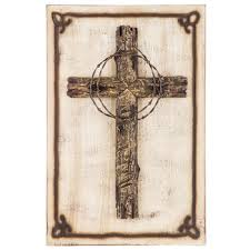barbed wire cross wood wall decor hobby lobby 5813365