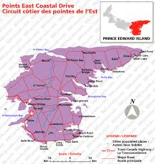 map of canada east coast points east coastal drive prince edward island bed and breakfasts