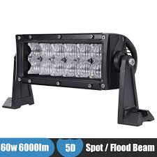 led backup light bar 7 inch 60w 5d led light bar for jeep bmw work light car backup light