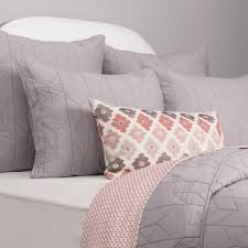 Light Grey Bedspread by Grey Cotton Quilt And Sham Light Grey Chevron Crane U0026 Canopy