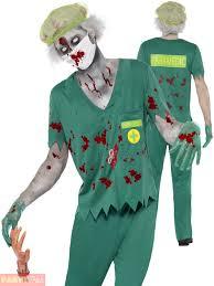 Mens Doctor Halloween Costume Mens Zombie Paramedic Costume Halloween Doctor Fancy Dress
