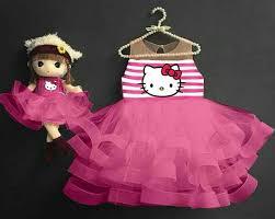 desain baju gaun anak dress anak perempuan desain tutu hello kitty cantik lucu