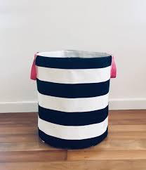 Canvas Storage Bins Large Size Toy Storage In A Black And White Striped Canvas