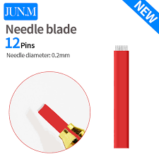tattoo needle for thin lines 50 pcs 12 pins matte needles for permanent makeup eyebrow tattoo