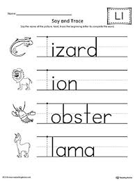 trace letter l and connect pictures worksheet myteachingstation com