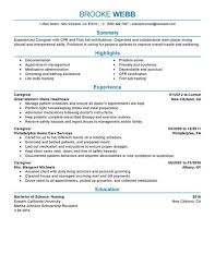 Resume Examples For Pharmacy Technician by Pretty Inspiration Caregiver Resume Samples 11 17 Best Images