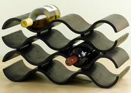beautiful and creative wine rack design to hold up to ten bottles