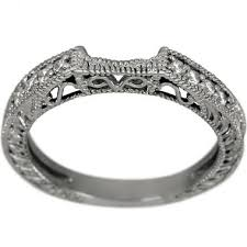 curved wedding band dacarli curved wedding band diamond wedding band 14k white gold