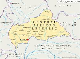 africa map with country names and capitals central republic travel guide and country information