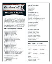 house checklist building checklist templates 15 free word pdf format download