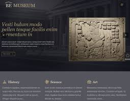 top 5 museum history art gallery archive html5 templates