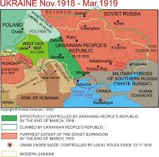 Map Of Ukraine And Crimea Ukr 1918 19 Jpg