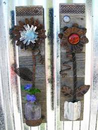 rustic floral wall home decor flower wall hanging metal