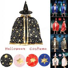 Cape Halloween Costume Childrens U0027 Halloween Costume Wizard Witch Cloak Cape Robe Hat