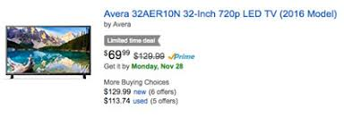 amazon black friday television deals amazon black friday tvs how to find 69 99 32 inch tv 398 55