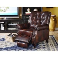 philip brown leather cowhide recliner free shipping today