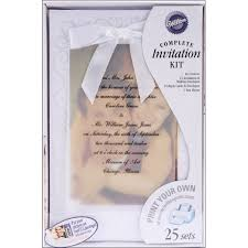 Amazon Com Wilton The Two Of Us Wedding Invitation Kit Kitchen