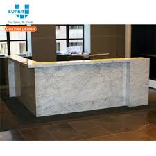 Illuminated Reception Desk Wholesale Marble Standing Furniture Led Lighted Reception Desk