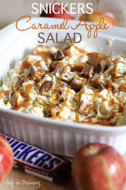 snickers caramel apple salad chef in training
