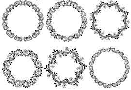 circle ornamental frames 2 ai format free vector