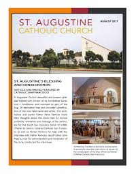 st augustine catholic parish saint augustine catholic church