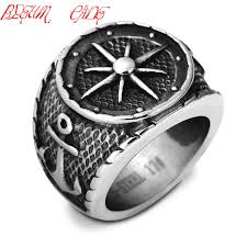 man cool rings images Hiphop rock cool big anchor ring for man stainless steel rock punk jpg