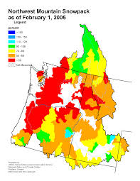 United States Radon Map by Mountain Snowpack Map Columbia River