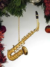 saxophone gold musical instrument ornament new