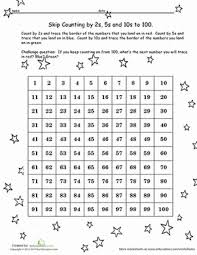 Skip Count By 2s Hundreds Chart Hundreds Chart Skip Counting Worksheet Education Com