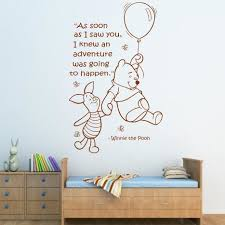 compare prices on pooh girls online shopping buy low price pooh d400 wall quote winnie the pooh wall sticker art girls boys baby room nursery decal