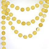 boston creative company glitter circle garland gold