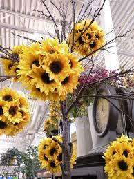 Fake Sunflowers Sunflower Topiary Ball Styrofoam Balls Fake Sunflowers U003d Easy