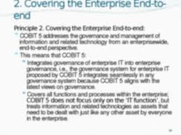 8 in summary cobit 5 brings together the five principles that