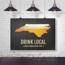 Home Decor Innovations Charlotte Nc by Amazon Com North Carolina Beer Print Map Nc Drink Local Craft