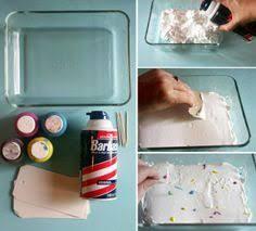 paint marbled paper using shaving cream craft