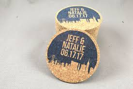 wedding coaster favors drinks on us cork coaster wedding favors personalized with names