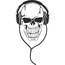 free shipping cool design personality home decor skull music