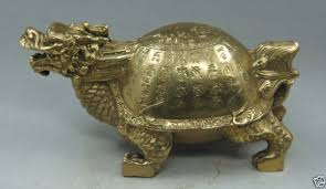 carved ornaments copper brass character turtle